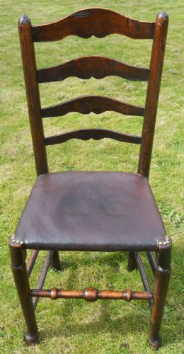 Antique Elm Ladderback Dining Chair